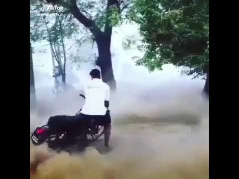 6100 wale stunt on bullet crraaa krva ti latest video