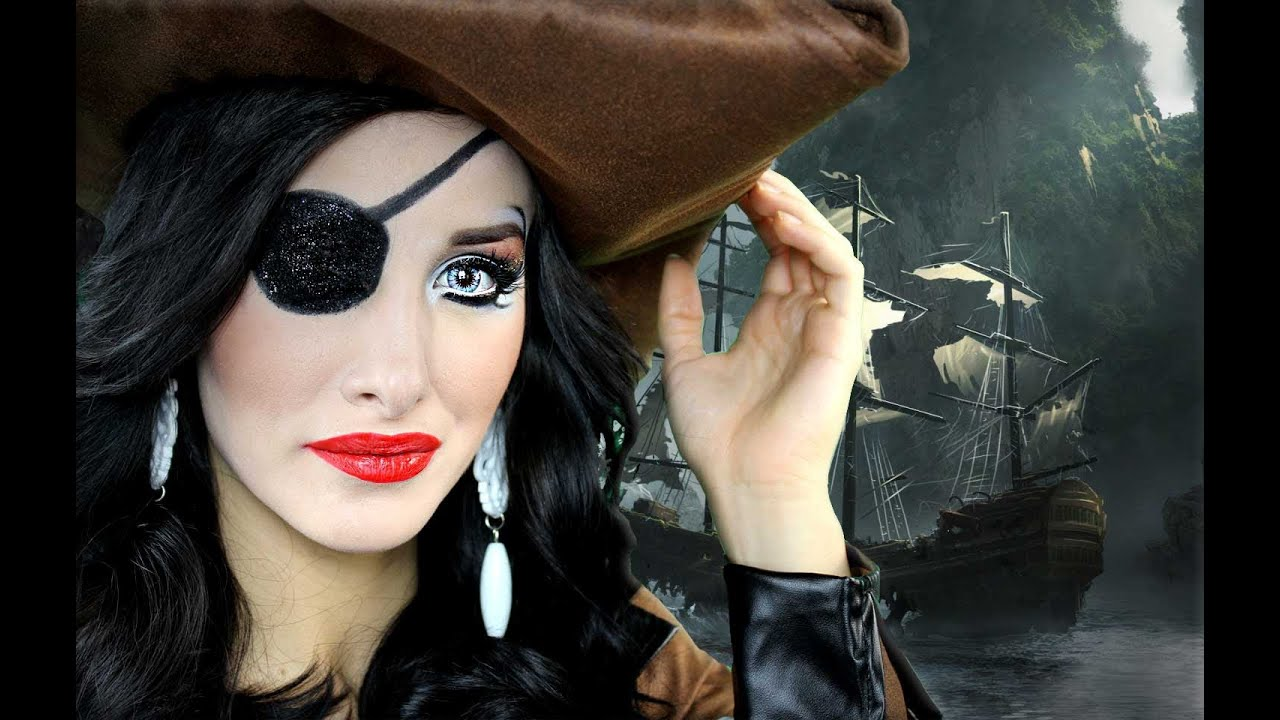 SEXY PIRATE Halloween makeup tutorial
