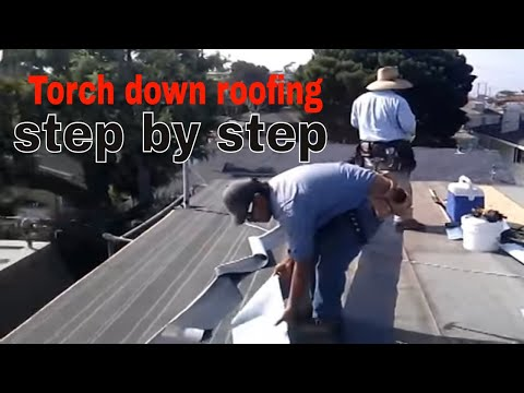 Torch down roofing step by step, Instructional video ,check this out !