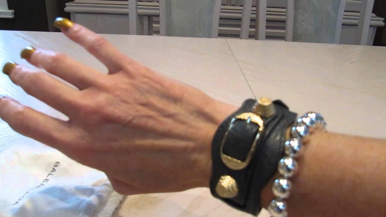 Balenciaga Giant Bracelet in Black gDUuCjN