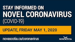 Update COVID-19 for Nova Scotians: Friday May 1