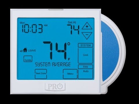 Awesome Big Display Pro1 Thermostats And Use A Hvac Contractor Youtube