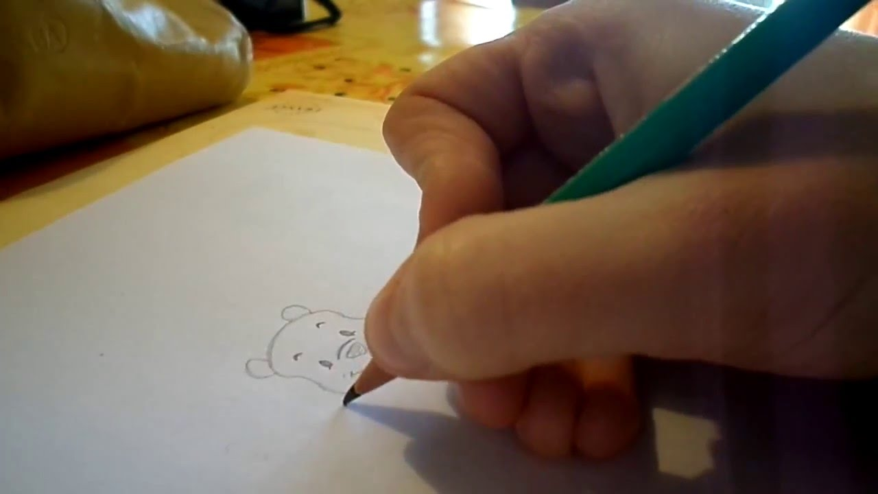 Tutoriel Dessin Dessiner La Tete De Winnie L Ourson Facile By