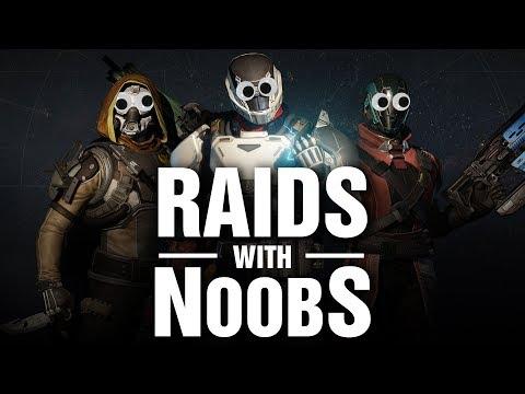 FAIL!!! The Struggle Of Raiding With NOOBS!!!  (Funny Fails in Destiny Raids)
