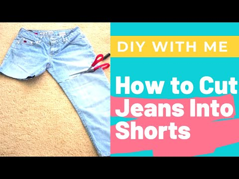 How To: Cut Denim Jeans Into Shorts DIY Easy Cuffs and Cut ...