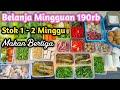 BELANJA MINGGUAN HEMAT DAN CARA PENYIMPANANNYA | FOOD PREPARATION INDONESIA | ibu eksha