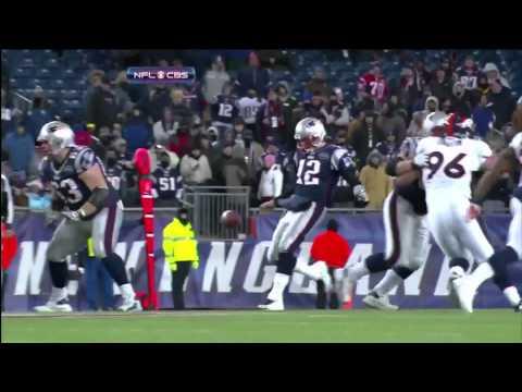Tom Brady's 3rd down punt against Broncos (w/ replay)