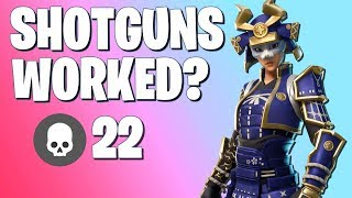 I actually used a shotgun instead of spamming, then this happened (Fortnite Battle Royale)