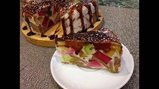 Торт Калейдоскоп ( Битое стекло) Вкусный яркий торт-десерт.Быстро и вкусно  /Cake Kaleidoscope/