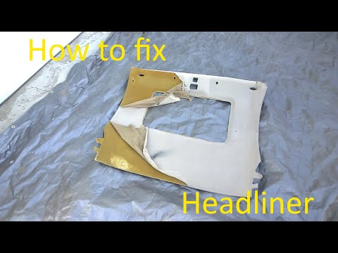 How to REPLACE HEADLINER on Mitsubishi Eclipse 2g or any other car