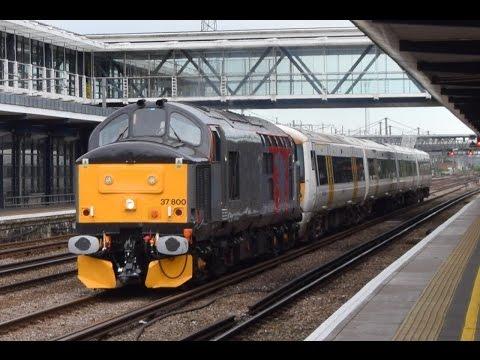 Rail Operations Group 37800 Great 9 tone and thrash at Ashford International 9/7/16
