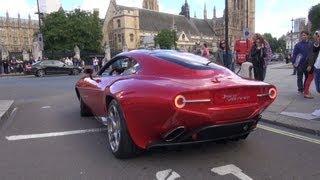 Alfa Romeo Disco Volante ! Crazy looking car Revs and Accelerates