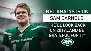 """Nfl analysts on sam darnold's talent: """"there's so much there"""" 
