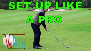 HOW TO SET UP TO THE GOLF BALL PROPERLY