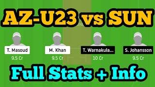 AZ-U23 vs SUN Dream11 AZ-U23 vs SUN  AZ-U23 vs SUN Dream11 Team