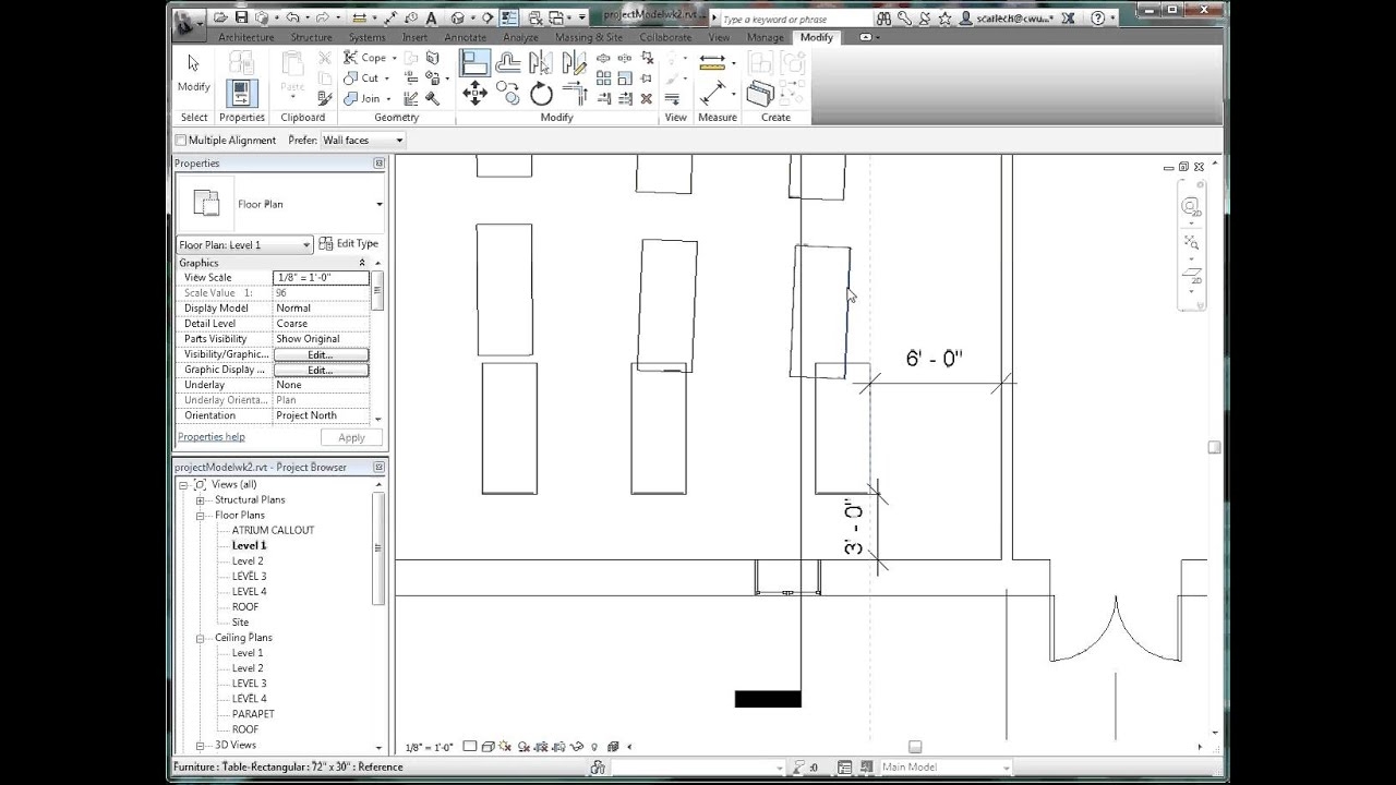 Revit, Aligning and Locking Inserted Components and Dimensions
