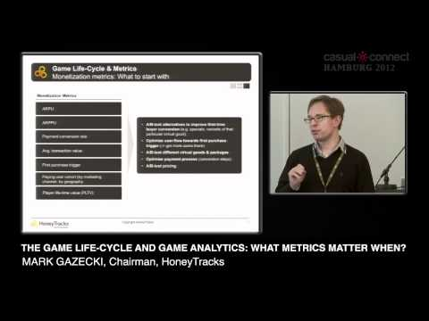 The Game Life-Cycle and Game Analytics: What Metrics Matter When? | Mark GAZECKI