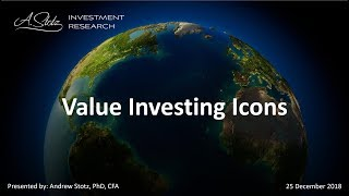 Value Investing and Eight Value Investing Icons