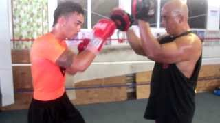 Kalae Mcshane Boxing training video