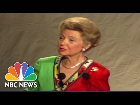 Phyllis Schlafly Defends 'Right To Life' (1995)   NBC News