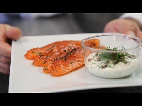 saumon confit fa on gravlax envie de bien manger youtube. Black Bedroom Furniture Sets. Home Design Ideas