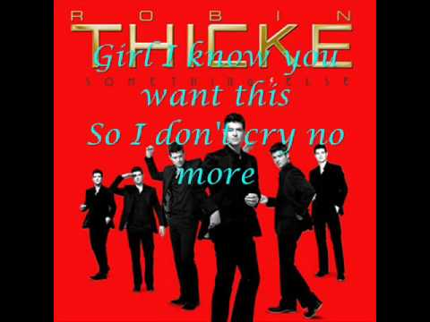 Robin Thicke - Cry No More lyrics