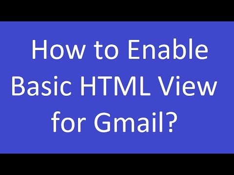 How To Enable Basic HTML View For Gmail?