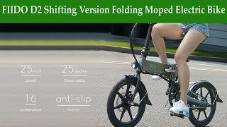 FIIDO D2 Shifting Version Folding Moped Electric Bike E bike