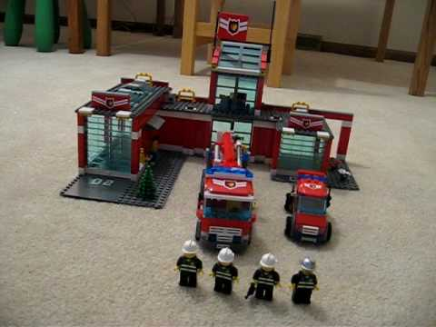 Lego City Fire Station 7945 Youtube