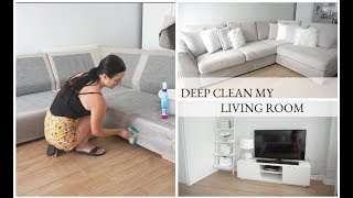 CLEAN MY HOME WITH ME | DEEP SOFA CLEANING | SPEED CLEANING | CARLY JADE DRAKE