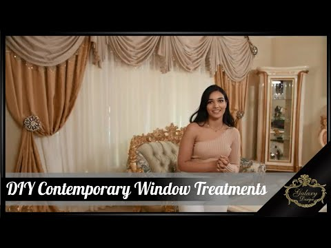 DIY Contemporary Window Treatments | Galaxy Design Video #202