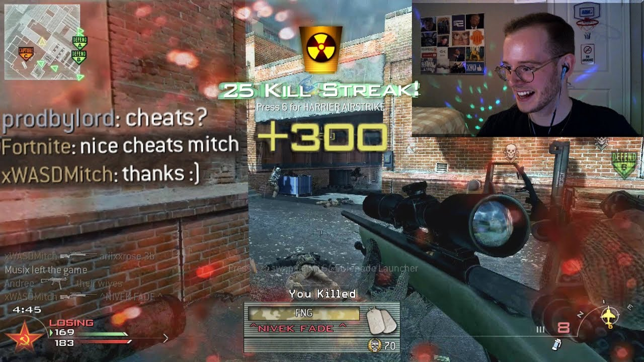 `IS HE CHEATING?` M40A3 Sniping on MW2 (IW4X PC)