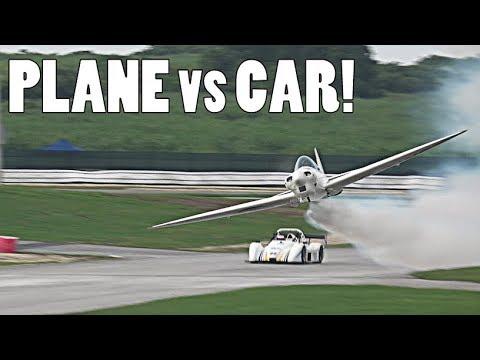 JENSON BUTTON RACE CAR vs PLANE!!