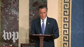 Sen. Mitt Romney's full speech announcing he will vote to convict Trump