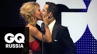 Ксения Собчак целуется с женатым писателем года: видео с церемонии GQ