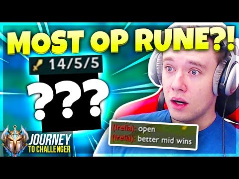 The Most BROKEN Rune That NOBODY Takes - Journey To Challenger  LoL