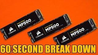 corsair Force  MP 500 SSD 60 Second Break Down