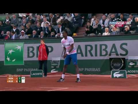 HD Murray vs Monfils   Roland Garros 2014 Highlights