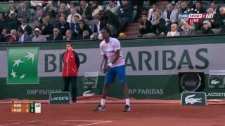 HD Murray vs Monfils   Roland Garros 2014 Highlights