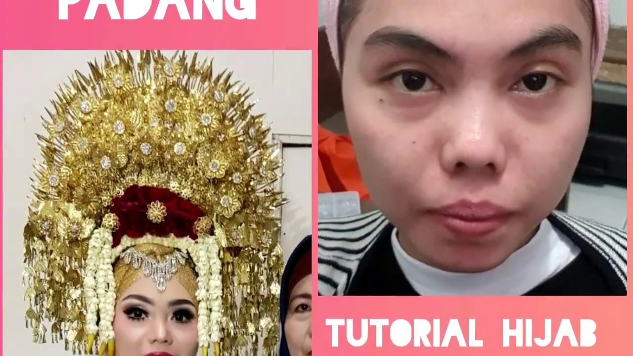 TUTORIAL HIJAB PENGANTIN PADANG CARA PAKAI SUNTINGVlogjobwedding33  YouTube