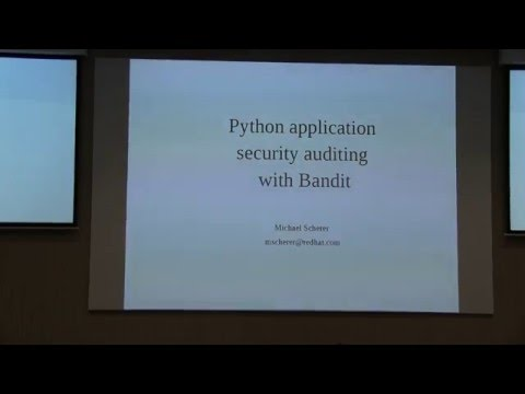 Image from Python application security auditing with bandit
