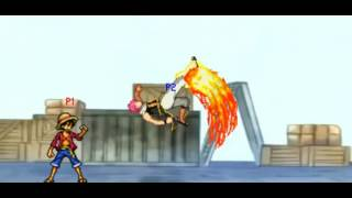 Luffy Vs Natsu PixelCombat (java Game)