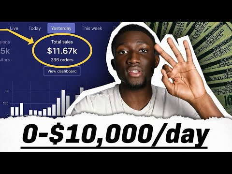 $0 to $10,000 Per Day In 20 Days | Shopify Tutorial For Beginners thumbnail