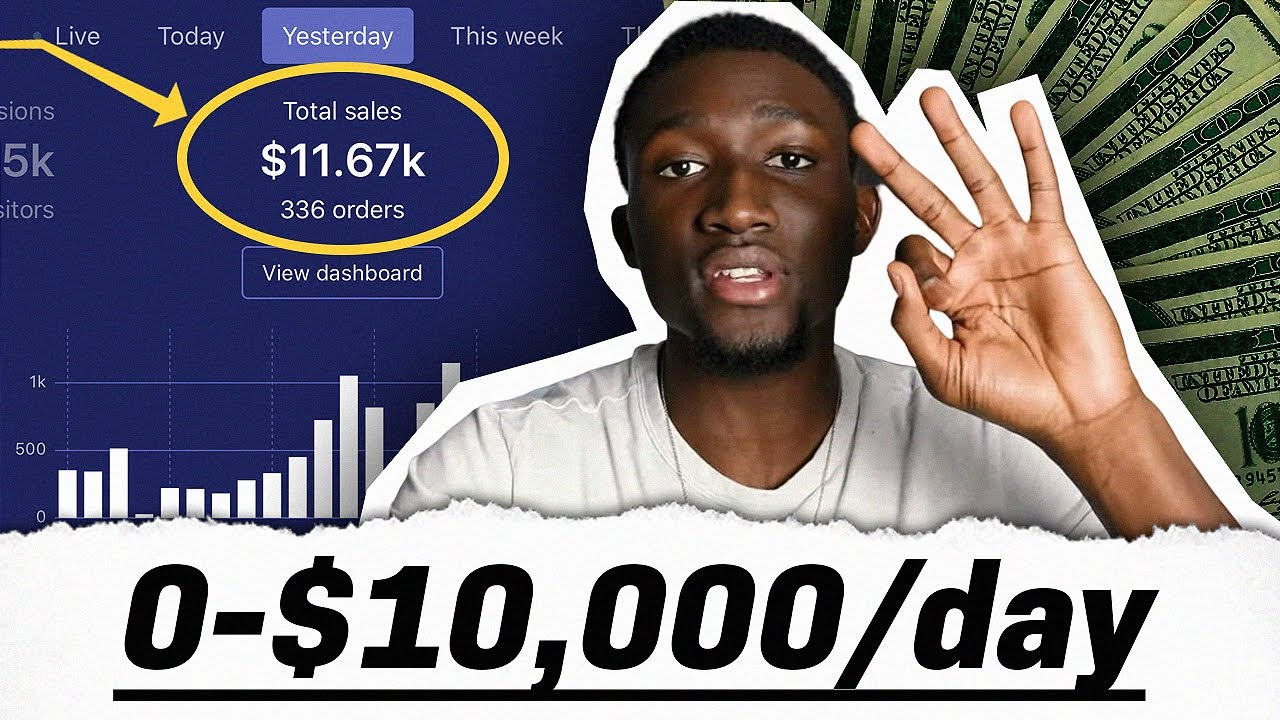 $0 to $10,000 Per Day In 20 Days | Shopify Tutorial For Beginners