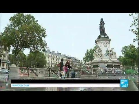 Paris : la statue de la place de la République, symbole de mémoire après les attentats, nettoyée