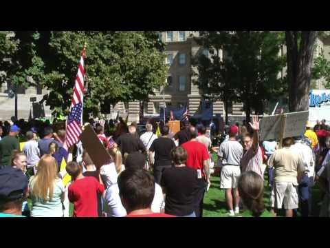 Radio Talk Show host addresses crowd at tea Party Idaho Rally 9-12