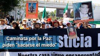 Caminata por la paz. Llevan 400 almas su coraje por violencia a la CDMX
