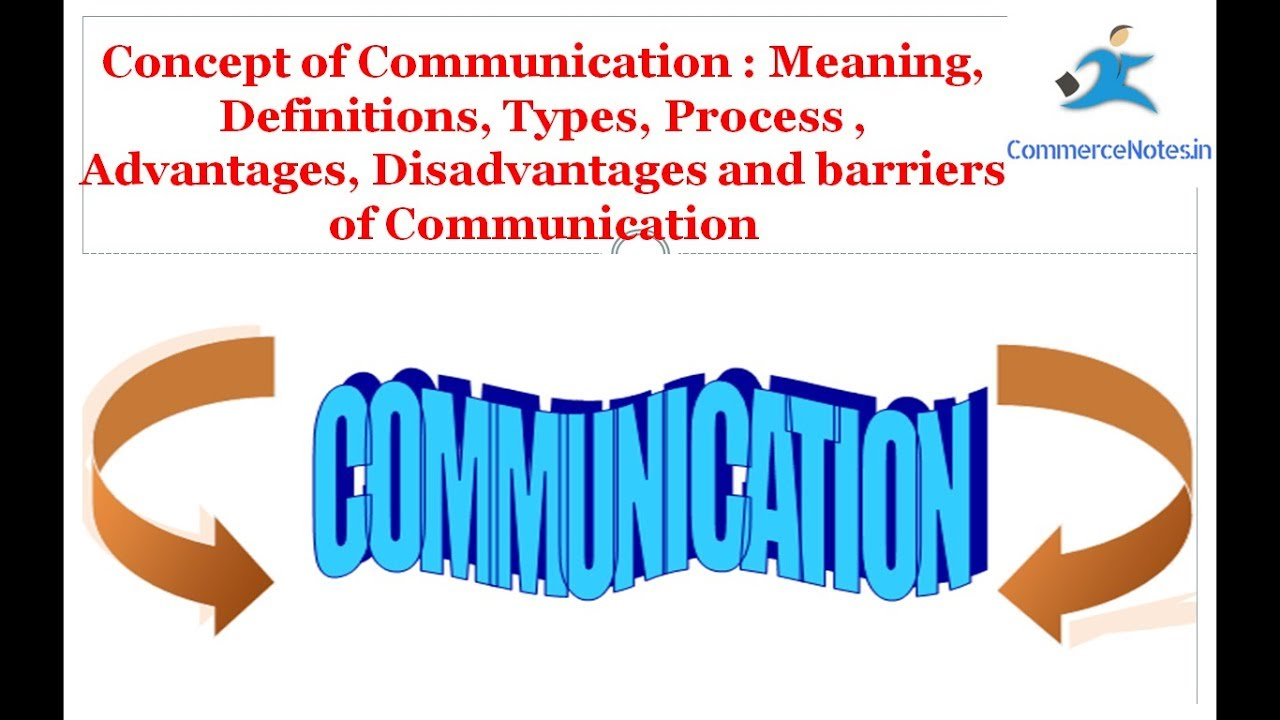 Communication Meaning, Definitions, Types, Process , Advantages and barriers
