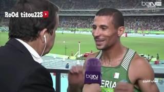 تصريح توفيق مخلوفي عقب التأهل للدور النهائي 800 متر 2016