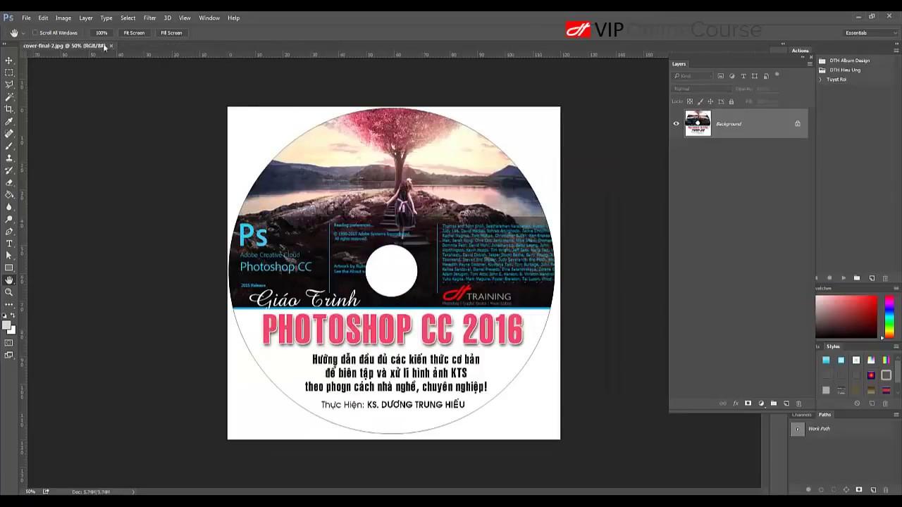 Photoshop CC 2016, BÀI 28  THIẾT KẾ ĐỒ HỌA VỚI PHOTOSHOP